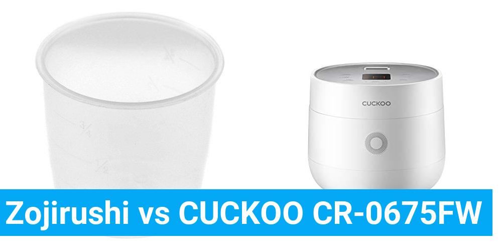 Zojirushi vs CUCKOO CR-0675FW